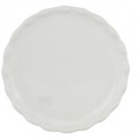 Cake Plate 16cm White BC logo