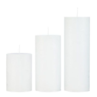 Rustic candle White