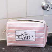 All Natural beauty Cosm Bag pink