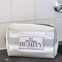 All Natural Beauty Cosm Bag flax