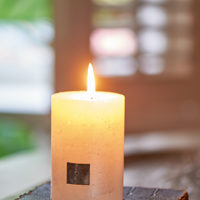 Rustic Candle pearl 7 x 10