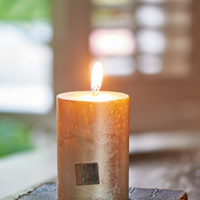 Rustic Candle champagne 7x10
