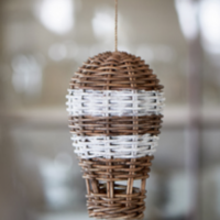 rustic rattan hot air balloon
