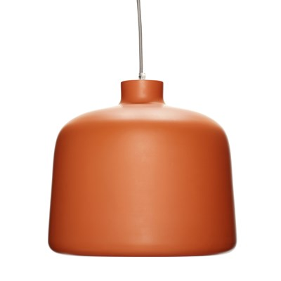 Lamp, terracotta/white
