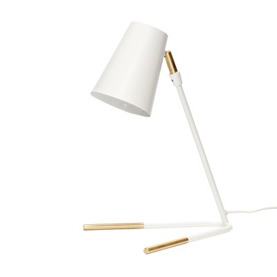 Table lamp, white/brass