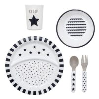 Dinnerware black and white