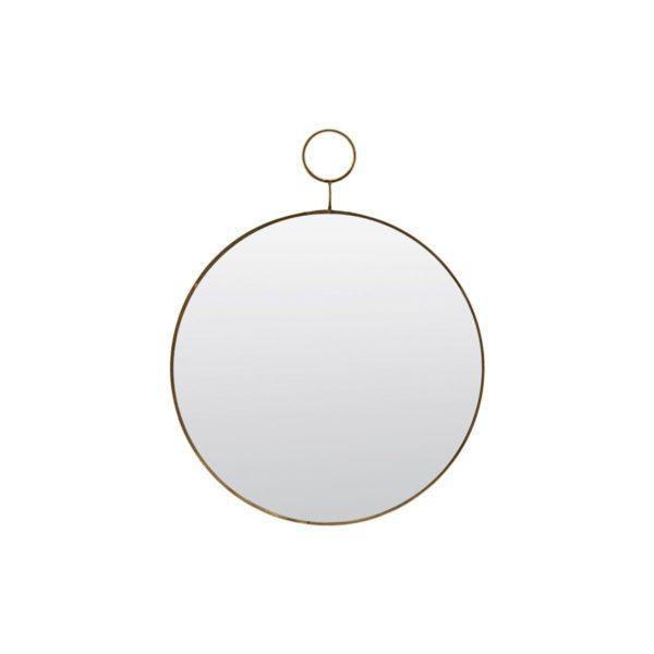 Mirror, The Loop, Brass, dia 32 cm