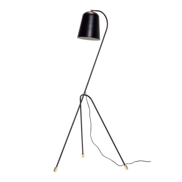 Floor lamp, metal, black/brass