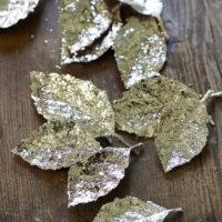 Happy Glitter Leaves
