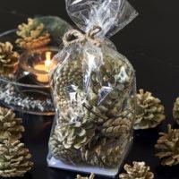 Aspen Pinecones Sparkly green