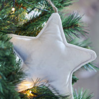 Velvet Star Ornament off-white M