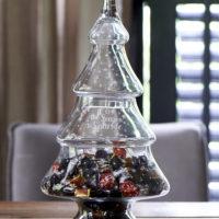 Let It Snow Glass Christmas Tree M