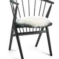 Seat cover, Long-Wool, Dia: 38cm