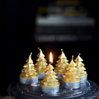 Christmas Tree Mini Candles 6 pcs