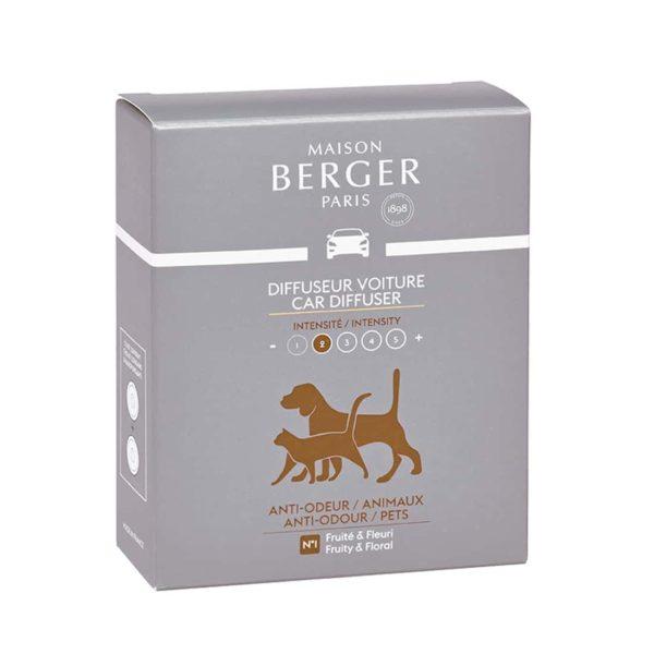 Maison Berger - Anti-odour pets autotuoksun täyttöpaketti