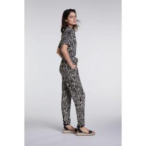 Oui Zebra Print Jumpsuit